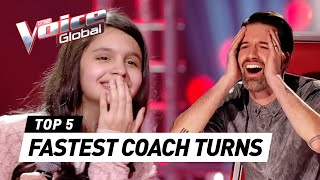 FASTEST CHAIR TURNS in The Voice Kids worldwide (#3)