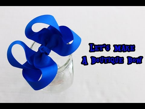Let's make a BOUTIQUE HAIRBOW (BIG GIRL BOW) Twisted Boutique