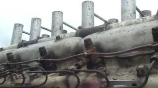 DIESEL V12 GERMAN WW11 TIGER TANK ENGINE RUNNING OPEN PIPES