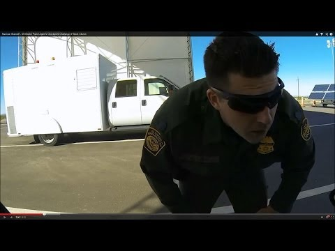 Mexican Standoff - US Border Patrol Agent's Checkpoint Challenge of Silent Citizen