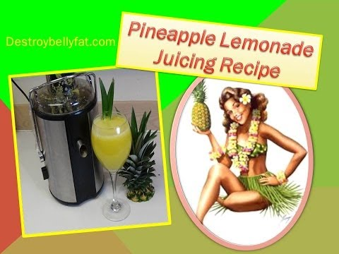 Pineapple Lemonade ~ Juicing Recipe