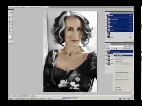 Black White photo transformed into colour in Photoshop CS4