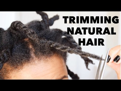 HOW TO TRIM NATURAL HAIR | REDUCE SHEDDING & BREAKAGE