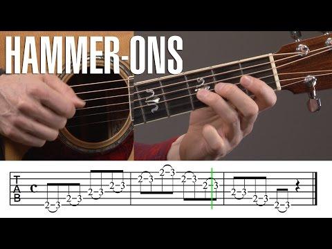 Intermediate Hammer-Ons Guitar Exercise