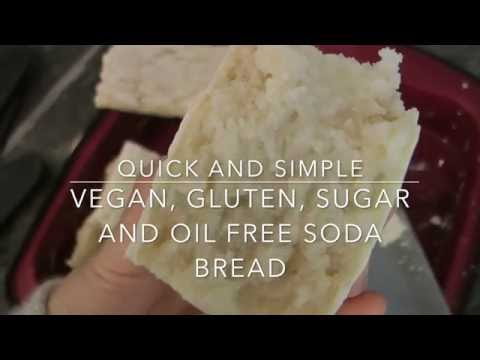 Vegan, gluten, sugar and oil free soda bread