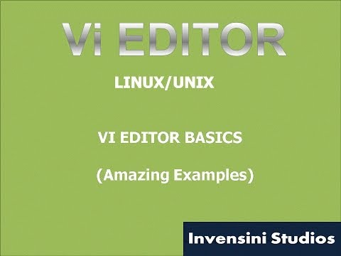 Learn Vi Editor Basics in 20 minutes