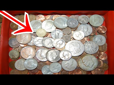 Opened MYSTERY Coin Collection in Storage Since 1985! WOW! Coin Roll Hunting Pennies, Nickels, Qtrs