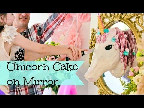 Wall Mounted unicorn cake
