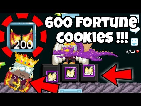 USING 600 FORTUNE COOKIES !!!! OMG !!! | Growtopia