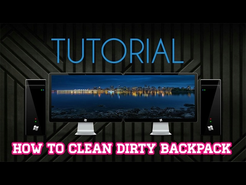 HOW TO CLEAN DIRTY BACKPACK BY SUPER G
