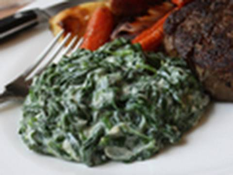 Creamed Spinach Recipe - Steakhouse Creamed Spinach