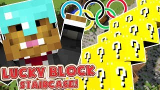 Minecraft LUCKY BLOCK STAIRCASE MOD RACE! - Minecraft Modded Lucky Block Olympics Round 2