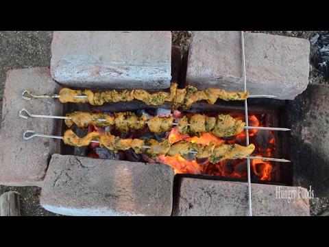 Chicken kebab prepared by Raju Master in my village || Chicken kebab yummy tummy