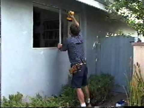 Removing a typical California aluminum window