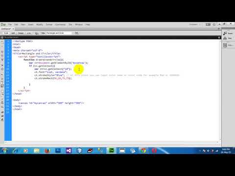 How to Draw Rectangle and Circle shape in HTML5 Canvas Using JavaScript