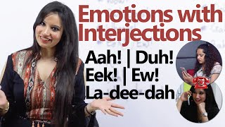 Learn to express Emotions through Interjections - Spoken English Lesson ( Telephone Conversation)