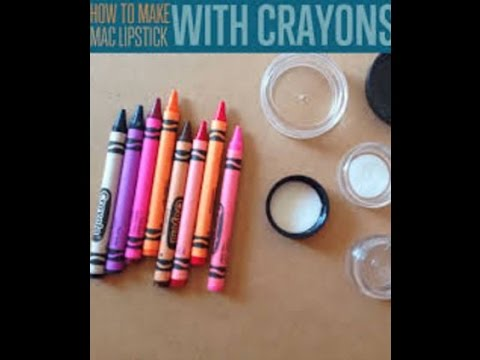 DIY How To Make Lip Stick With Crayons And Coconut Oil