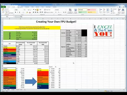 Create Your Own Monthly Budget in Excel