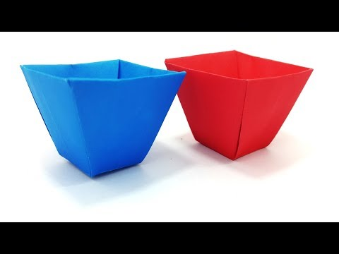Origami Flower Pot Best Easy Learning Video | Paper Flower Box Clear Instruction