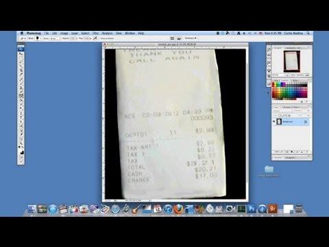 How to Darken a Faded Receipt in Photoshop : Using Adobe Photoshop
