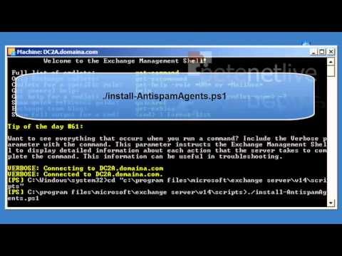 Exchange 2010 - Install Anti-Spam Agents