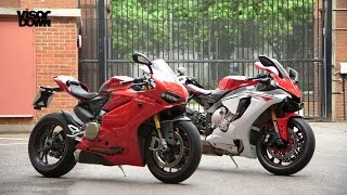 Yamaha R1 vs Ducati 1299 Panigale S | Visordown Back-to-Back Test