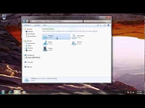 Learn Windows 7 - Changing HomeGroup Settings