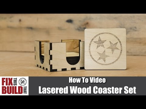 Laser Engraving Wood Coasters - CNC Laser Woodworking Project