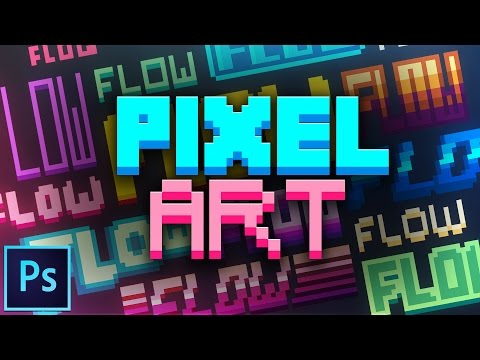 How to Make Pixel Art Text | Photoshop Tutorial