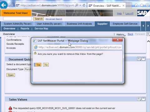 SAP NetWeaver Enterprise Portal Tutorial