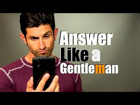 How To Answer The Phone Like A Gentleman! (Greeting and Voicemail)