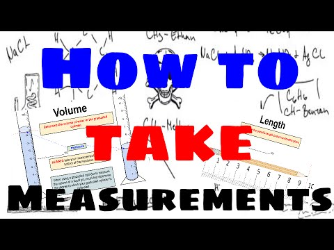 How to Take Measurements of Length, Volume and Mass