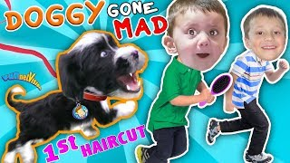 OUR PUPPY BITES & CHASES US AROUND HOUSE! OREO, Princess or Beast FUNnel Vision Doggy Vloggy