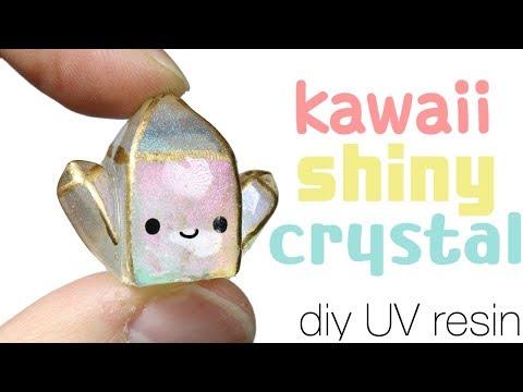 How to DIY kawaii/cute Shiny Crystal UV Resin Tutorial