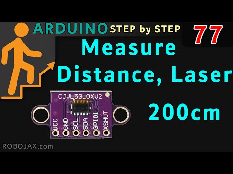 Measure Distance with VL53L0X 6 pin Laser module with Arduino