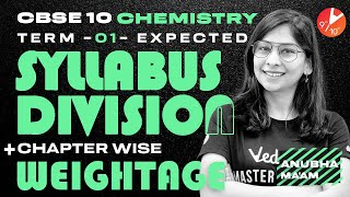 CBSE Class 10 Chemistry [Term 1] Expected Syllabus Division + Chapter Wise Weightage 🧐   Vedantu