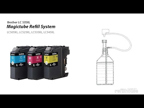 Brother LC535XL, LC525XL, LC545XL, LC505XL MagicTube Refill