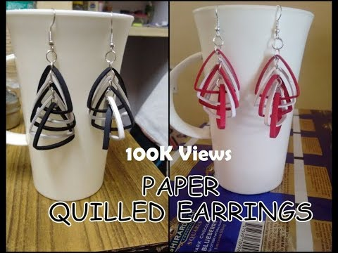 Paper Quilled Earrings - New Design (Funky look)
