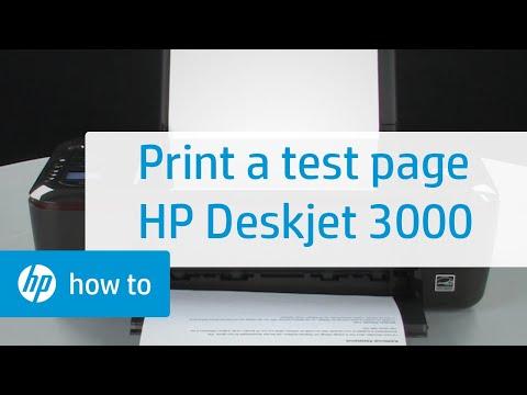 Printing a Test Page - HP Deskjet 3000 Printer