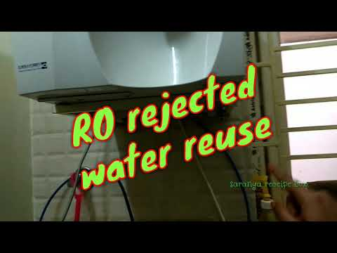 RO rejected waste water reuse/how to use ro waste water/save water tips