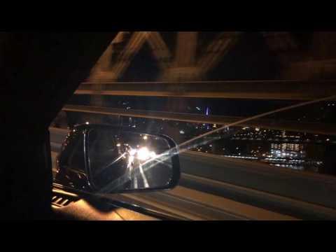 Late night drive on the Brooklyn Bridge
