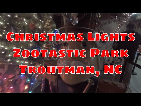 Christmas Light Show at Zootastic Park - Troutman, North Carolina