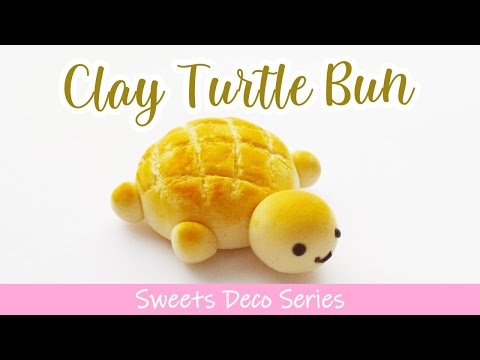 Cute Turtle Bun Tutorial for Clay Creations [スイーツデコ Sweets Deco Series]