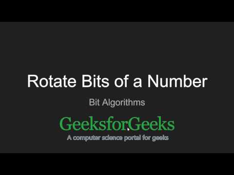 Rotate bits of a number | GeeksforGeeks