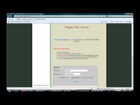 My Tax Portal Tutorial