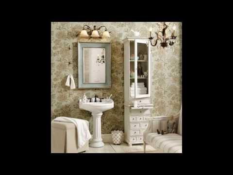 Shabby chic style bathroom decor