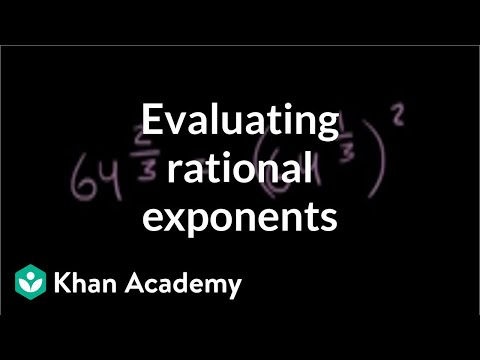 Fractional exponents with numerators other than 1   Algebra I   Khan Academy