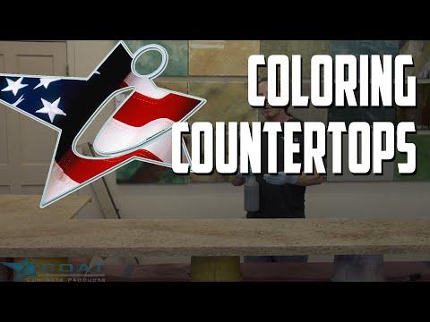 Coloring iCoat Countertops Ivory Brown to look like Granite