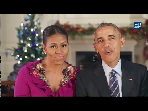 Obamas' Final Christmas Greeting - 2016