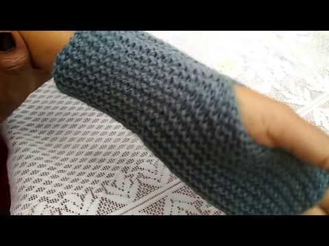 Knitted Fingerless Gloves In Hindi | A Quick and Easy Knitted Project | Fingerless Mitts